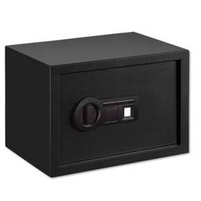 Stack-On Personal Safe w/Biometric Lock and Shelf-Black