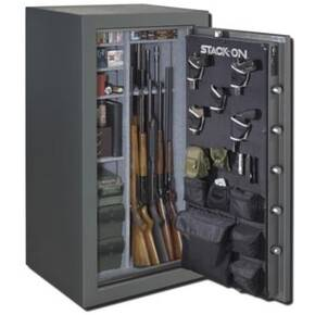 Stack-On 36-40 Gun Safe w/Electronic Lock, Backlit-Gray Pebble