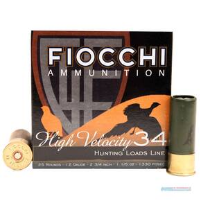"Fiocchi Shotshells 12ga 2-3/4"" 1-1/5oz 1330 fps #8 25/ct"