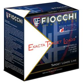Fiocchi Exacta Light Shooting Dynamics Shotshells 12ga 2-3/4 in 1-1/8 oz 1165 fps #7.5 25/ct