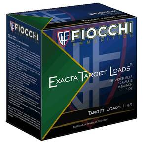 Fiocchi Exacta Heavy Shooting Dynamics Shotshells 12 ga 2-3/4 in 1oz 1200 fps #8 25/ct