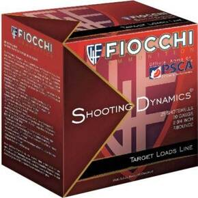 "Fiocchi Shooting Dynamics Target Shotshells 12ga 2-3/4"" 1-1/8oz 1165 fps #8 25/rd"