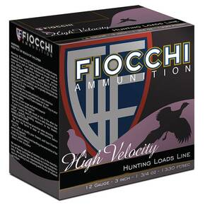 "Fiocchi High Velocity Shotshells 20ga 2-3/4"" 1oz #8 25/ct"