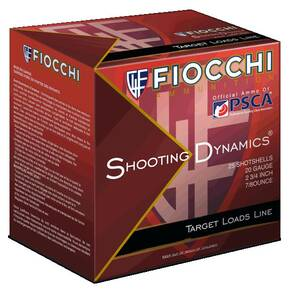 Fiocchi Exacta Heavy Shooting Dynamics Shotshells 20ga 2-3/4 in 7/8 oz 1210 fps #8 25/ct