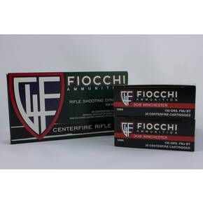 Fiocchi Shooting Dynamics Rifle Ammunition .308 Win 150 gr FMJ 2890 fps 200/ct