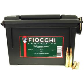 Fiocchi Rifle Shooting Dynamics Rifle Ammunition .308 Win 150 gr FMJ-BT 2890 fps - 180 Rounds