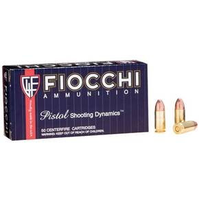 Fiocchi Pistol Shooting Dynamics Handgun Ammunition 9mm Luger 147 gr FMJ 50/Box