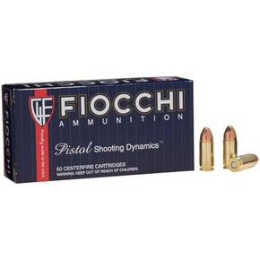 Fiocchi Pistol Shooting Dynamics Handgun Ammunition 9mm Luger 115 gr FMJ 50/Box
