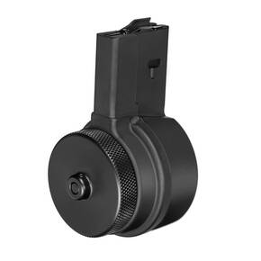 X-Products X15 5.56mm/.223 Rem Drum Magazine Aluminum Black 50/rd