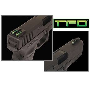 Truglo TFO Tritium/Fiber-Optic Day/Night Sights Fit - Novak 1911 .270/.500 Front Green/Rear Green