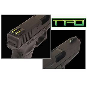 Truglo TFO Tritium/Fiber-Optic Day/Night Sights Fits Novak 1911 .270/.500 Front Green/Rear Yellow