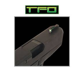 Truglo TFO Tritium/Fiber-Optic Day/Night Sights Fit Ruger (FRONT ONLY) SR9 / SR9C, SR40 / SR40C, SR45 - Green