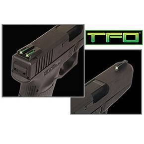 Truglo TFO Tritium/Fiber-Optic Day/Night Sights Fits Ruger LC9 / 9s / 380 - Front Green/Rear Yellow