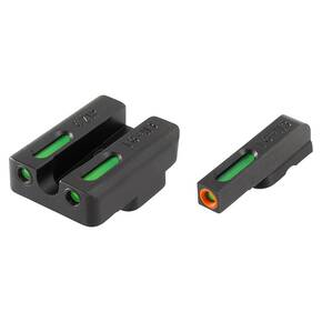 Truglo TFX Pro Tritium/Fiber-Optic Day/Night Sights Fit CZ 75 Series (Most Models) - Front Orange/Green Rear