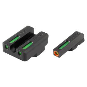 Truglo TFX Pro Tritium Fiber-Optic Xtreme Handgun Sight Set For CZ P10 - Front Orange/Green Rear
