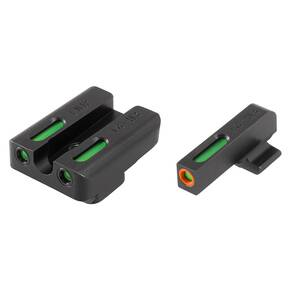 Truglo TFX Pro Tritium/Fiber-Optic Day/Night Sights Fit FNH FNP-9|FNX-9|FNS-9|FNS-9 Compact - Front Outline Orange/Rear Green