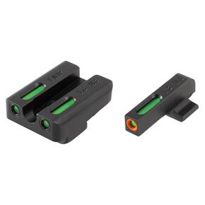 Truglo TFX Pro Tritium/Fiber-Optic Day/Night Sights Fit FNH FNP-40|FNX-40|FNS-40|FNS-40 Compact - Orange Outline Front/Rear Green