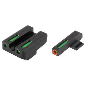 Truglo TFX Pro Tritium/Fiber-Optic Day/Night Sights Fit FNH FNP-45|FNH FNX-45 - Orange Outline Front/Rear Green