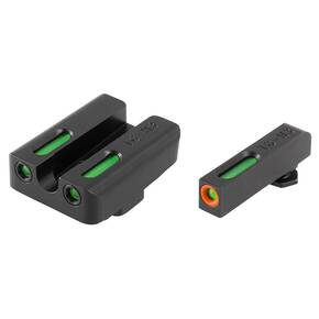 Truglo TFX Pro Tritium/Fiber-Optic Day/Night Sights Fit GLOCK 20, 21, 25, 29, 30, 31, 32, 40, AND 41 - Orange Outline Front/Rear Green