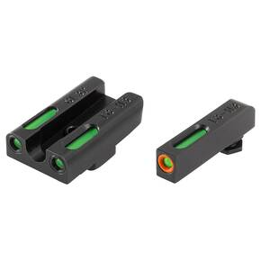Truglo TFX Pro Tritium/Fiber-Optic Day/Night Sights Fit Glock 42|Glock 43 - Orange Outline Front/Rear Green - Orange Outline Front/Rear Green
