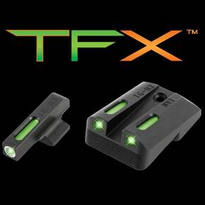 "Truglo TFX Tritium/Fiber-Optic Day/Night Sights Fits Novak LoMount cut .260 Front / .450 Rear (1911 5"" Govt. .45ACP) Ruger SR1911 Models"