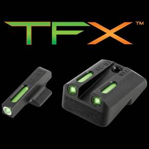 Truglo TFX Tritium/Fiber-Optic Day/Night Sights - White Outline Front/Green Rear