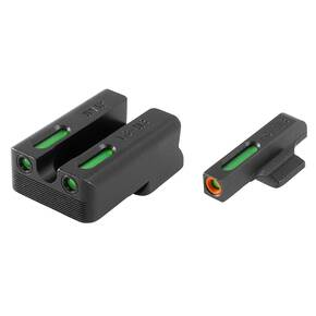 Truglo TFX Pro Tritium/Fiber-Optic Day/Night Sights Fit Novak LoMount cut .270 front / .450 rear - Orange Outline Front/Rear Green