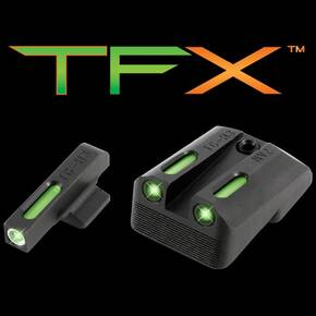 Truglo TFX Tritium/Fiber-Optic Day/Night Sights Fits Novak Dovetail