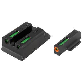Truglo TFX Pro Tritium/Fiber-Optic Day/Night Sights Fit Ruger SR9|Ruger SR9C|Ruger SR40|Ruger SR40C|Ruger SR45 - Orange Outline Front/Rear Green