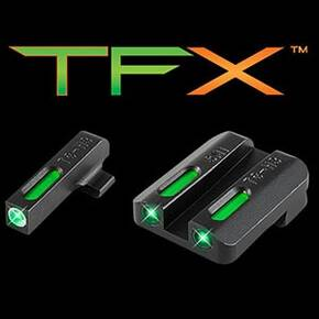 Truglo TFX Tritium/Fiber-Optic Day/Night Sight Set Steyr Mannlicher M-A1 C-A1 S-A1 L-A1 White Outline Front/Rear Green