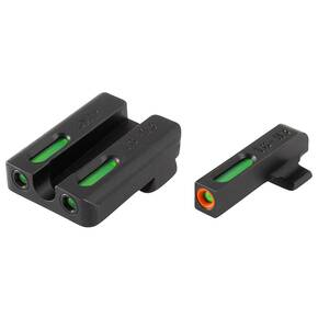 Truglo TFX Pro Tritium/Fiber-Optic Day/Night Sights Fit SSteyr M-A1|Steyr C-A1|Steyr S-A1|Steyr L-A1 - Orange Outline Front/Rear Green