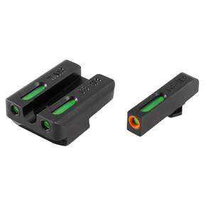Truglo TFX Pro Tritium/Fiber-Optic Day/Night Sights Fit Walther P99/Walther PPQ - Orange Outline Front/Rear Green
