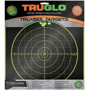 TRUGLO TRU-SEE Self Adhesive Targets - 5 Diamond 12x12 Green 12 Pack