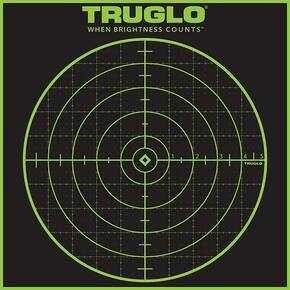 TRUGLO TRU-SEE Self Adhesive Targets - 5 Diamond 12x12 Green 50 Pack