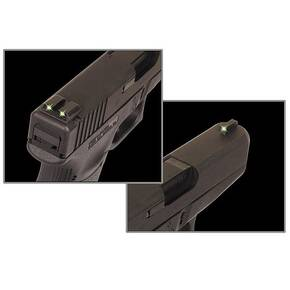 Truglo Tritium Night Sights Fits Novak .260/.450 Set - Front Green/Rear Green