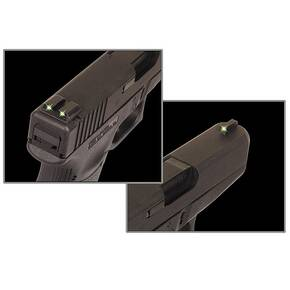Truglo Tritium Night Sights Fits Novak .260/.500 Set - White Outline Front/Rear Green