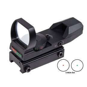 Truglo Dual Color Open Red-Dot Sight - 5 MOA Reticle Matte