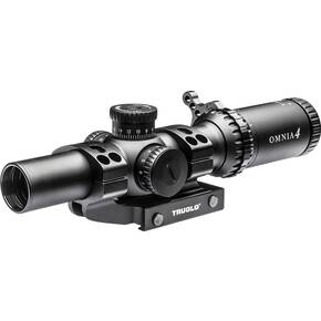 Truglo OMNIA4 Tactical Scope - 1-4x24mm 30mm Illum All Purpose Tactical Reticle (A.P.T.R.) Black Matte