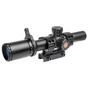 Truglo Tru-Brite Tactical Rifle Scope - 1-6x24mm 30mm IR Power Ring Duplex Mil-Dot Reticle