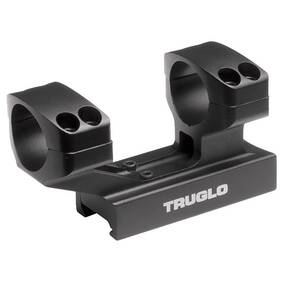 "Truglo 1-Piece Reversible Picatinny/Weaver Tactical Scope Mount with 30mm Rings 1""H / 2-7/8L Base - Black"