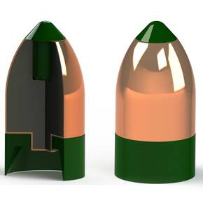 Powerbelt AeroTip Copper-Plated Muzzleloader Bullets .50 cal 295 gr 50/ct