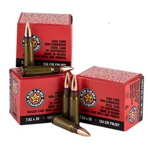 Century Arms Red Army Rifle Ammunition 7.62x39mm 124gr FMJ 1000/ct