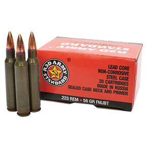 Century Arms Red Army Rifle Ammunition .223 Rem 56gr FMJ 1000/ct