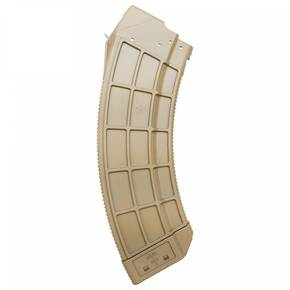Century Arms US Palm AK30 Magazine w/Stainless Steel Latch Cage fo AK-47 30rd FDE