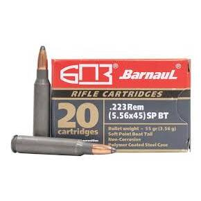 Barnual Polycoated Steel Case Rifle Ammunition .223 REM 55gr SP 3248 fps 500/ct (Case)