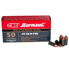 Barnual Polycoated Steel Case Rifle Ammunition .40 S&W 165 gr FMJ 984 fps 20/ct