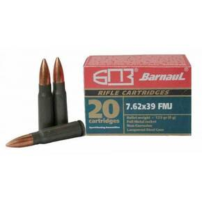 Barnaul Lacquered Steel Case Rifle Ammunition 7.62x39mm 123 gr FMJ 20/ct