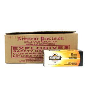 Armscor Rimfire Ammunition .22 LR 36 gr HVHP 1260 fps 5000/ct