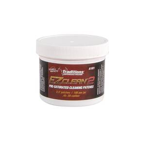 "Traditions EZ Clean 2 Pre-Saturated Cleaning Patches - 100/Jar 2.5"" Dia."