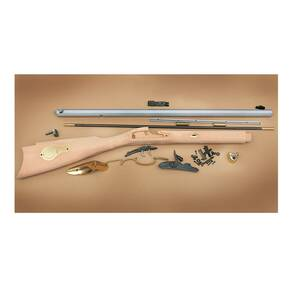 "Traditions St. Louis Hawken Rifle Build-It-Yourself Kit Select Raw Hardwood .50 Cal 28"" White Barrel"